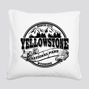 Yellowstone Old Circle Black Square Canvas Pil